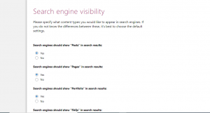 Search engine visibilty